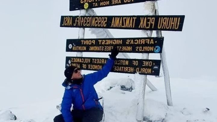 Nathan conquers Kilimanjaro for Children